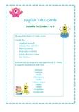 English Task Cards Gr 4-6