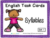 English Task Cards - Syllables 01