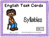 English Task Cards - Syllables 02
