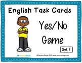English Task Cards - Yes/No Game 01