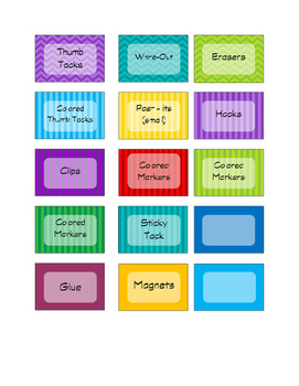 English Teacher Toolkit Labels Multi-Color