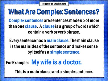 The Subordinate Clause