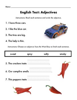 English Test: Adjective