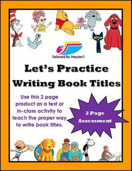 English Test: Book Titles