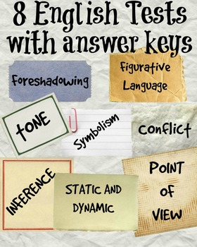 English Test Bundle: 8+ tests with answer keys