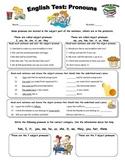 English Test: Pronouns