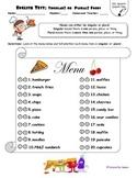 English Test: Singular or Plural Nouns - Foods
