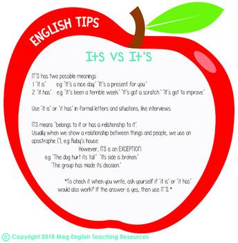 English Tips - Its vs. It's