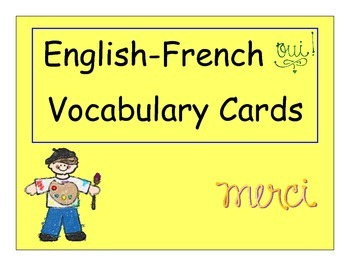 English To French Vocabulary Cards