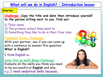 English Transition Lesson