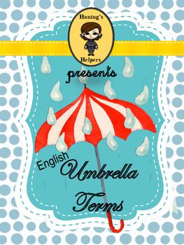 English Umbrella Terms Figurative Language, Parts of Speec