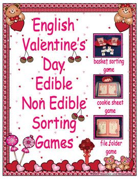 English Valentine's Day Edible and Non Edible Sorting Games