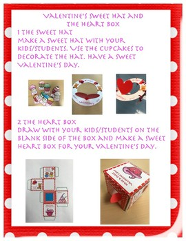 English Valentine's Day sweet hat and heart box