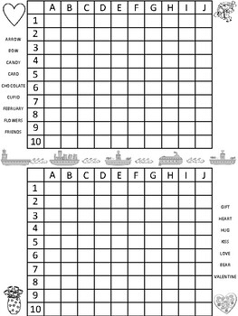 English - Valentine's Day - word search / cross word puzzles