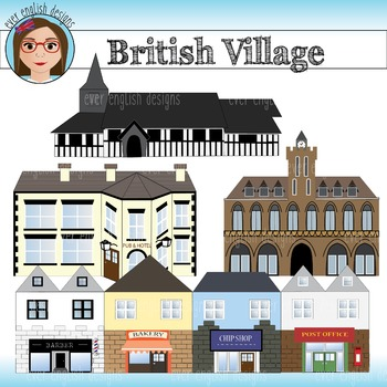 British Village Clip Art