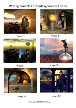 English - Visual Writing Prompts for Science Fiction/Fantasy