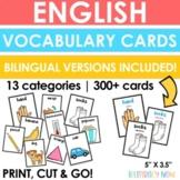English Vocabulary Cards - Bilingual Vocabulary Cards