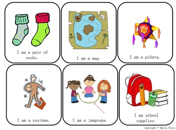 English Vocabulary Game Cards