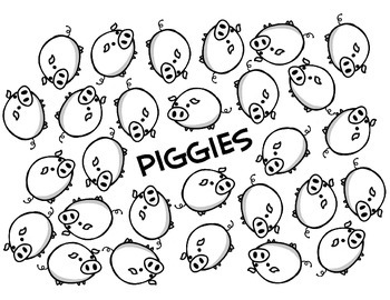 English Vocabulary Game - Piggies