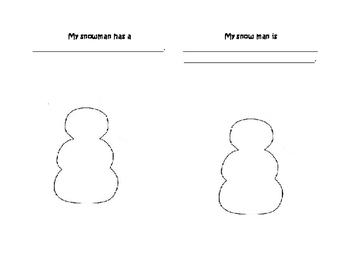 English Vocabulary Snowman Book