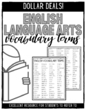 English Language Arts Vocabulary Terms