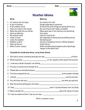 English: Weather Idioms