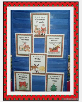 English Winter Mini Guided Reading Books Colored