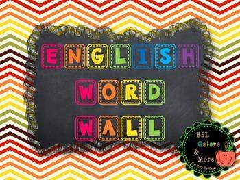 English Word Wall Posters