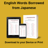 English Words Borrowed from Japanese