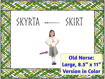 English Words with Arabic, Hindi, Nahuatl & Algonquian, and Norse Roots BUNDLE