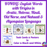 English Words with Arabic, Hindi, Nahuatl & Algonquian, an
