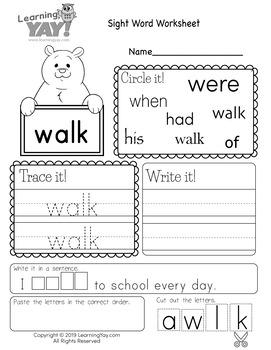 English Worksheets for First Grade (328 Worksheets ...