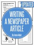 English: Writing A Newspaper Article Grades 6 - 12
