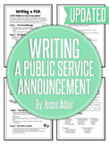 English: Writing A Public Service Announcement (PSA) Grade