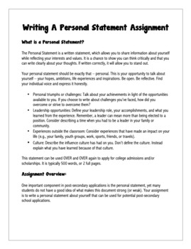 personal statement essay help
