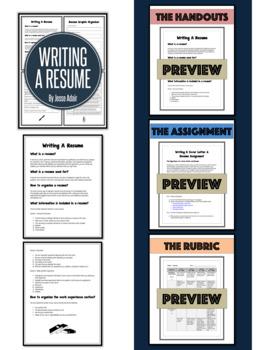 English: Writing A Resume Grades 6 - 12