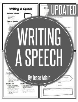 English: Writing A Speech Grades 6 - 12