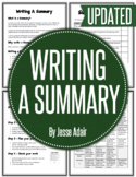 English: Writing A Summary Grades 6 - 12