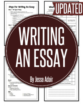 English: Writing An Essay Grades 6 - 12