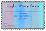 English Writing Award Set