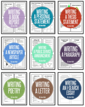 English: Writing Units For The Year Grades 6 - 12 Growing Bundle