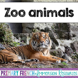 English Zoo Animals - Flashcards, Word wall words, BANG game cards