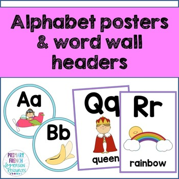 English alphabet posters and word wall headers