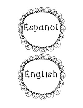 """English"" and ""Espanol"" Label"