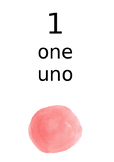 English and Italian Numbers 1 to 10
