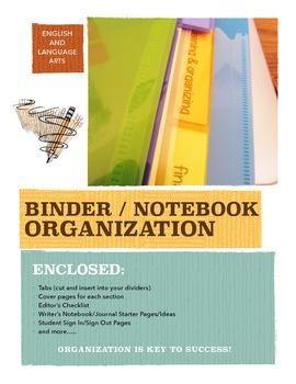 ELA or General Course: Binder & Writer's Notebook Organization