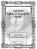 English and Language Arts Binder for High School/Middle School