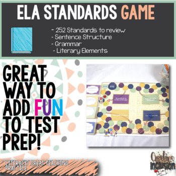 English & Language Arts Game! 252 Question Cards! Ultimate Review Resource!