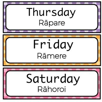 English and Māori Calendar set!