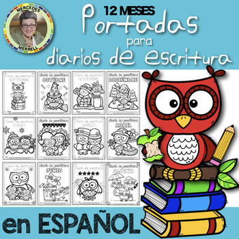 English and Spanish 12 MONTHS Writing Journal Covers/12 MESES Portadas para ...